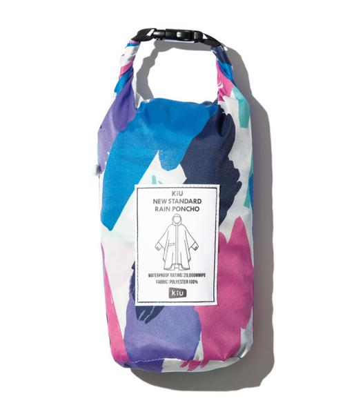 日本KIU 163197 塗鴉 標準成人空氣感有袖斗篷雨衣 騎車露營必備 附收納袋(男女適用)