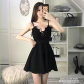 夜店洋裝 吊帶露背大擺性感短裙修身連身裙2021夏季新款女裝夜店氣質公主裙 新品