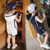 2018新款童裝兒童背心套裝1234567歲男童寶寶夏裝韓版潮衣小童夏 易貨居