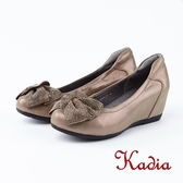kadia .優雅舒適蝴蝶結楔型鞋8534 81 香檳色