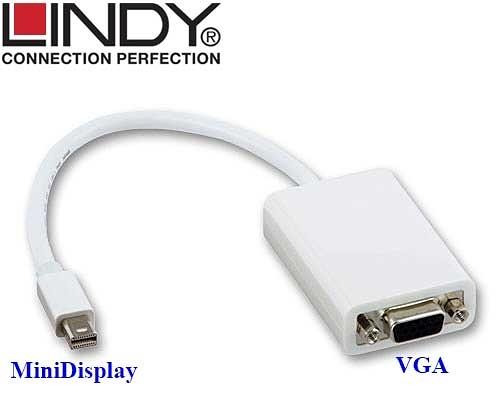 德國林帝LINDY 41015 MiniDisplayPort公 轉 VGA母 轉換線