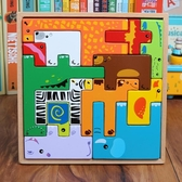 店長推薦 3456歲兒童早教益智玩具動物立體俄羅斯積木拼圖男女孩寶寶玩具