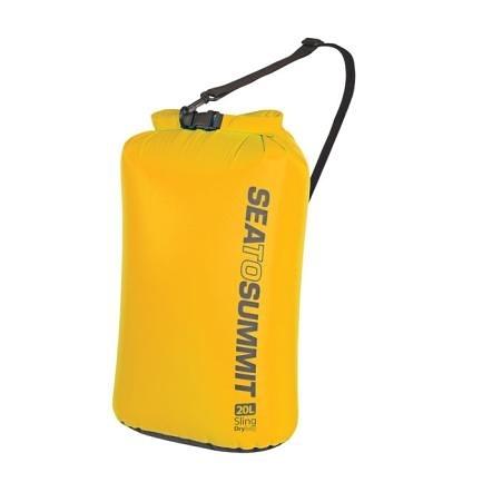 [好也戶外]SEA TO SUMMIT 70D 可揹負式輕量防水收納袋 黃 10L ASBAG10L