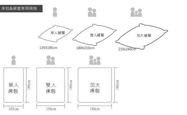 灰藍幻象、100% 精梳棉 【床包6X6.2尺/枕套X2/雙人被套(無鋪棉)】4件組 台灣製