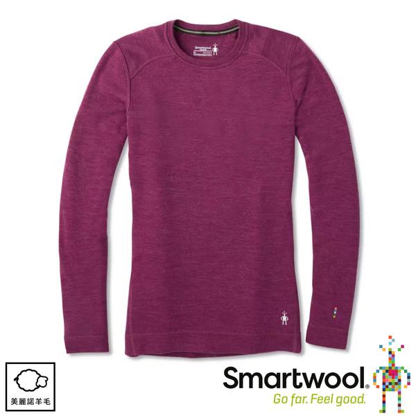 【SmartWool 美國 女 NTS 250圓領長袖衫《桑格里酒紅》】SW0NP224/內層衣/長袖衛生衣