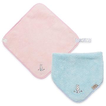 【奇哥】比得兔吸濕快乾手帕領巾圍兜(2色選擇