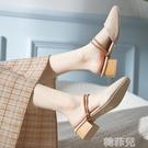 包頭涼鞋 涼拖鞋女夏時尚外穿港味復古chic新款百搭包頭半拖鞋兩穿涼鞋 韓菲兒
