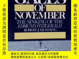 二手書博民逛書店Gales罕見of November: The Sinking of the Edmund Fitzgerald-
