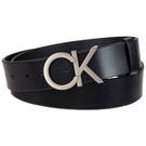 CK 牛仔Logo黑色皮帶...