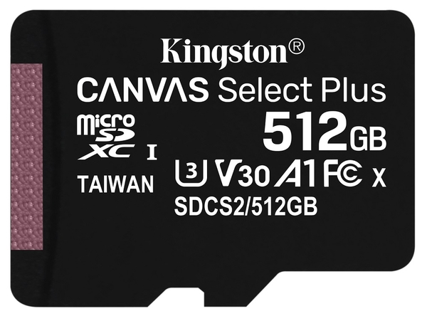【免運】KINGSTON 512GB 512G microSDXC【100MB/s-P】microSD micro SD UHS U1 TF C10 Class10 SDCS2/512GB 金士頓 記憶卡