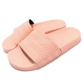 adidas 拖鞋 Adilette 粉紅 粉粉DER 基本款 舒適好穿 女鞋 涼拖鞋【PUMP306】 BA7538
