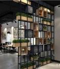 鐵藝屏風 隔斷 置物架 書架 工業風玄關 餐廳架 美式loft辦公室鐵藝架子  降價兩天