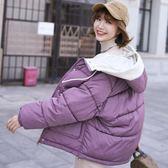 棉衣外套少女冬裝2019新款初中高中學生韓版寬鬆休閒短款羽絨棉服 草莓妞妞