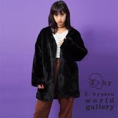 ❖ Hot item ❖ 澎鬆感絨面大衣外套 - E hyphen world gallery