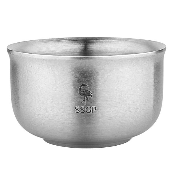 304不鏽鋼金尊碗 480ml 防燙隔熱飯碗 防摔碗 露營碗 環保碗【TA0302】《約翰家庭百貨