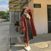 毛衣針織東大門韓系厚秋韓版寬松慵懶風外穿仙氣長款加厚長袖開衫網紅外套T619A.5009韓衣裳