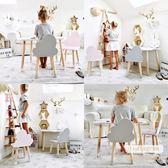 兒童桌椅 幼兒園兒童桌椅套裝實木寶寶學習寫字游戲培訓玩具ins桌椅子家用 莎拉嘿幼