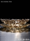 水晶玻璃果盤歐式客廳水果盤裝飾套裝現代簡約家用果盤美式糖果盤 怦然心動