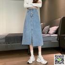 新品促銷 高腰牛仔半身裙女秋季2020年...