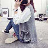 針織毛衣 馬甲中長款韓版背心 米蘭shoe