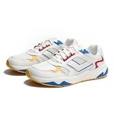 PONY 休閒鞋 MODERN 皮革 白 紅黃藍 老爹鞋 男 (布魯克林) 91M1MD01RB