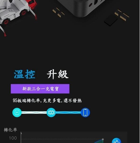 【Love Shop】三合一無線行動電源 大容量快充10000mah 大容量萬能無線充電器/手機通用