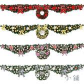 聖誕牛角藤條花環月牙聖誕節裝飾品【南風小舖】