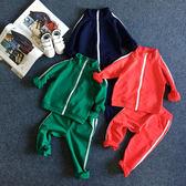 運動套裝。純色線條運動外套+運動長褲二件組 / 休閒套裝 *繪米熊童裝*(AQ71010)
