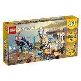 樂高積木LEGO 3合1創作系列 31084 海盜雲宵飛車