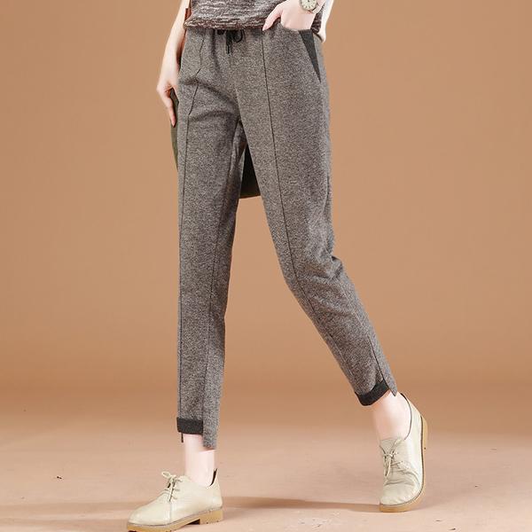 S顯瘦長褲 韓版直筒鬆緊腰-月兒的綺麗莊園
