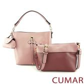 【CUMAR女包】大包+小包+零錢包三件組(三色)-粉