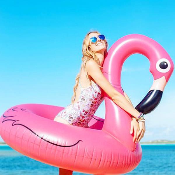 【BlueCat】桃紅色 紅鶴 火烈鳥 大型泳圈 游泳圈 浮板 漂浮板 (小號)