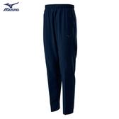 MIZUNO Slim FIT 男裝 長褲 套裝 平織 4WAY彈性 合身 兩側拉鍊口袋 深藍【運動世界】32TD008614