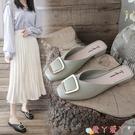 穆勒鞋包頭半拖鞋女外穿2021年夏季新款小跟穆勒鞋網紅懶人一腳蹬涼拖鞋 愛丫 新品