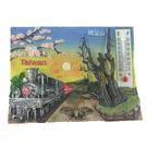 【收藏天地】台灣紀念品*溫度計冰箱貼-阿里山