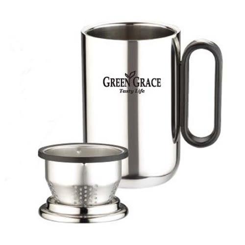 典雅304不鏽鋼 品茗杯 (泡茶杯 隔熱保 保溫杯 不鏽鋼杯 茶杯 濾網 辦公杯)
