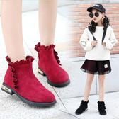 女童短靴子冬季2018新款童鞋兒童馬丁靴小女孩加絨公主棉靴大棉靴