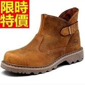 馬丁靴-英倫真皮革工裝軍靴短筒男靴子1色65d4【巴黎精品】