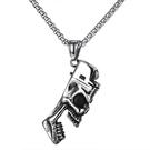 《 QBOX 》FASHION 飾品【C20N1839】精緻個性歐美骷顱頭打火機開瓶器鑄造鈦鋼墬子項鍊/掛飾