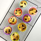 小蛋糕硅膠模具果凍布丁模子圓形瑪芬馬芬杯子耐高溫烘焙