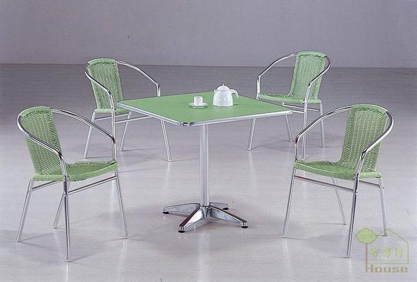 [家事達] 台灣OA-525-2/3 蘋果綠鋁合金休閒桌椅組 餐桌椅組