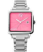 LICORNE 中性簡約時尚系列腕錶-粉/銀 LI005BWPA