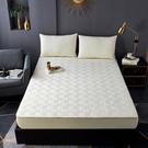 純棉床笠單件全棉加厚夾棉床墊套罩席夢思保護套防滑床套1.8m床罩 雙十二購物節