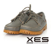 XES 男鞋 經典 時尚雷根帆船鞋 防滑舒適大底_實穿灰