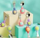 兒童餐具 小寶寶學吃飯訓練勺子嬰兒輔食勺叉子兒童餐具套裝 優拓