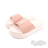 PUMA Platform Slide Wns EP 粉紅厚底拖鞋 拖鞋 女 36612201☆SPEEDOBE☆
