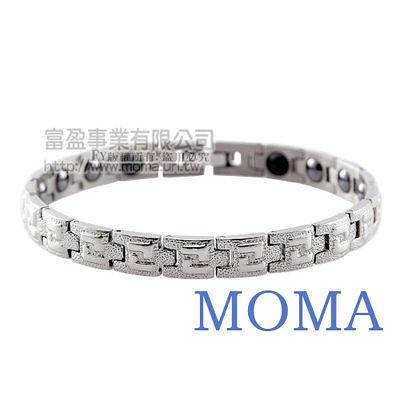 【MOMA】純鈦鍺磁手鍊-雙L窄版