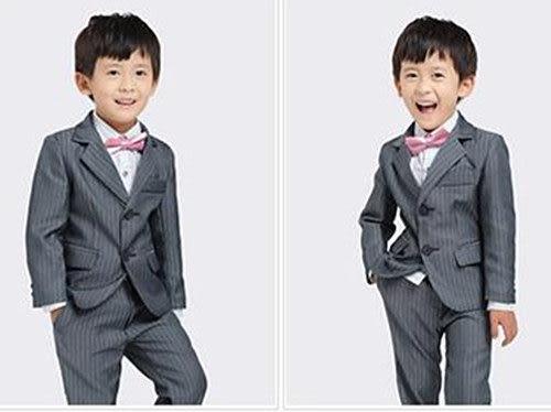 3C膜露露 ? 韓版男童西裝高端兒童禮服王子西服伴童裝男童秋裝休閒套裝
