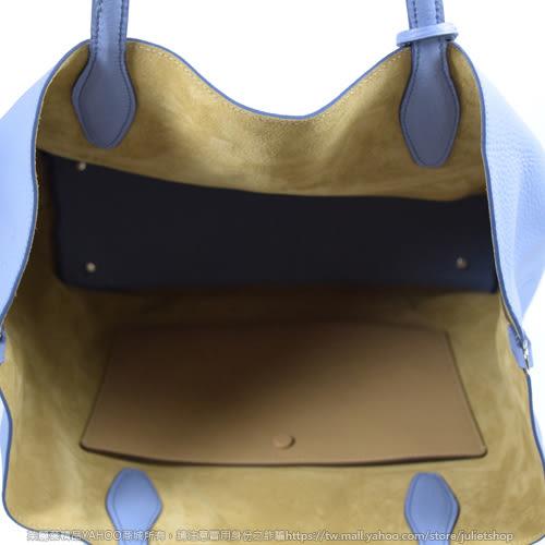 茱麗葉精品【下殺低價】 TODS 撞色牛皮兩用大托特包.粉藍/駝