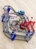 軌道玩具托拖馬斯小火車 電動小火車套裝軌道車電動火車兒童男孩玩具XW